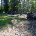 course de quad en forêt