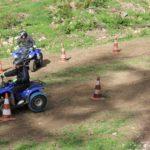 entrainement au parcours quad